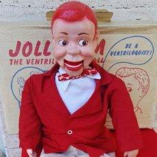 Muñecas Extranjeras: ANTIGUO MUÑECO VENTRILOCUO JOLLY JIM (JERRY MAHONEY), AÑOS 50'S CON CAJA ORIGINAL. RAREZA!!!. Lote 75514627