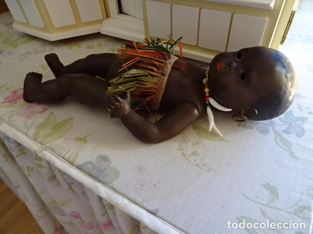 Muñecas Extranjeras: MUÑECO BEBE NEGRITO TORTUGA ALEMAN DE CELULOIDE - HEUBACH KÖPPELSDORF ?? - Foto 13 - 75609047