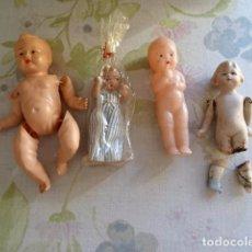 Muñecas Extranjeras: LOTE DE 4 MUÑEQUITOS ANTIGUOS. Lote 75688659