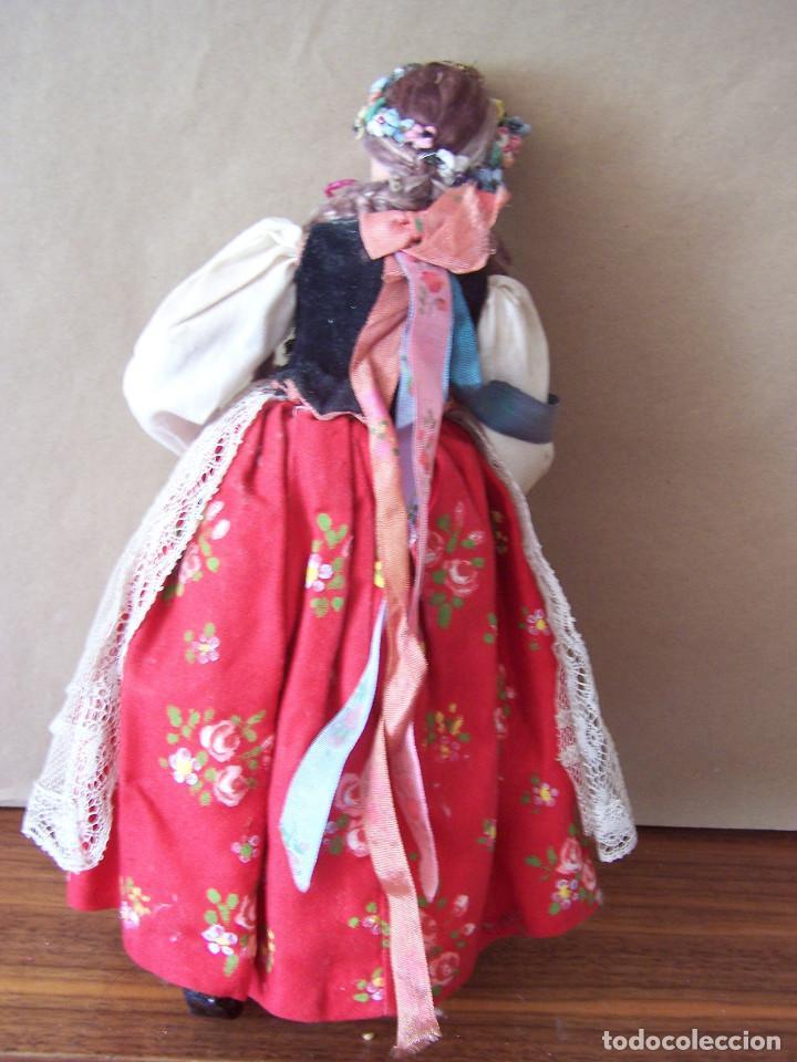 Muñecas Extranjeras: Muñeca polaca de trapo con cabeza de cerámica. Altura 30 cm, - Foto 2 - 75870043