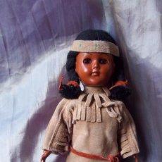 Muñecas Extranjeras: ANTIGUA MUÑECA INDIA CON TRAJE DE ANTE TÍPICO. Lote 76868899