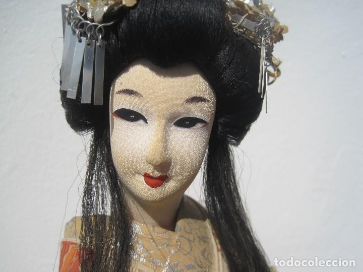 Muñecas Extranjeras: MUÑECA JAPONESA ANTIGUA DE TELA, KIMONO ORIGINAL, 40 CM. AÑOS 40-50 - Foto 3 - 79013517