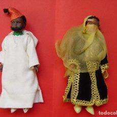 Muñecas Extranjeras: PAREJA MUÑECOS (MARRUECOS) AÑOS 50'S. SOUVENIRS, RECUERDOS. ORIGINALES ¡COLECCIONISTA!. Lote 82463576