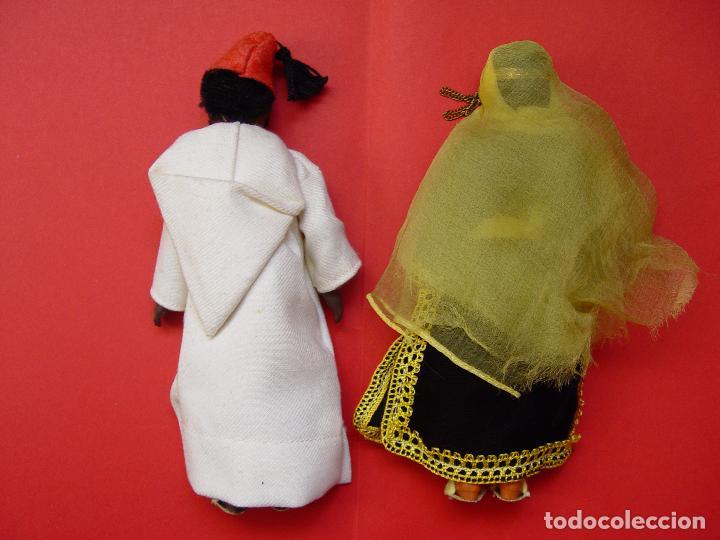 Muñecas Extranjeras: Pareja muñecos (Marruecos) Años 50's. Souvenirs, recuerdos. Originales ¡Coleccionista! - Foto 2 - 82463576