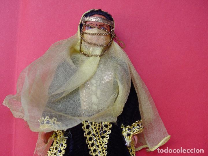 Muñecas Extranjeras: Pareja muñecos (Marruecos) Años 50's. Souvenirs, recuerdos. Originales ¡Coleccionista! - Foto 3 - 82463576