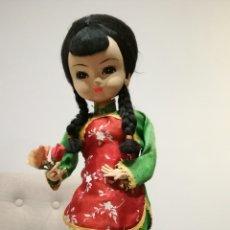 Muñecas Extranjeras: MUÑECA DE TRAPO O CARTON MUY ANTIGUA. Lote 83801818