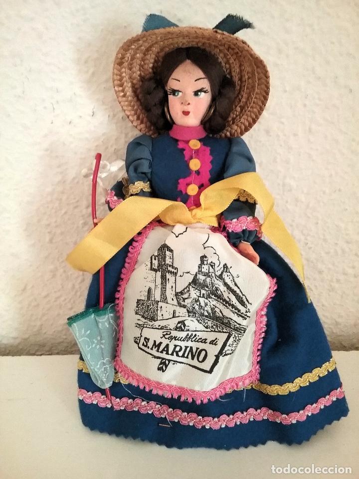MUÑECA RECUERDO DE SAN MARINO TIPO LENCI DOLL POUPPE (Juguetes - Muñeca Extranjera Antigua - Otras Muñecas)