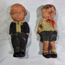 Muñecas Extranjeras: PRECIOSA Y MUY CURIOSA PAREJA DE MUÑECOS AÑOS 30-40 EN GOMA. MUY CURIOSOS. Lote 85412144