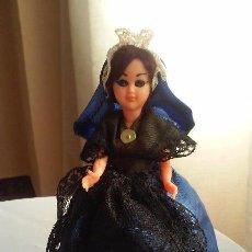 Muñecas Extranjeras: BONITA MUÑECA ANTIGUA DE CELULOIDE CON TRAJE REGIONAL, SOUVENIR O RECUERDO. Lote 90407479