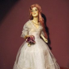 Muñecas Extranjeras: ANTIGUA LAMPARA MUÑECA BOUDOIR MUNZERLITE. Lote 95769611