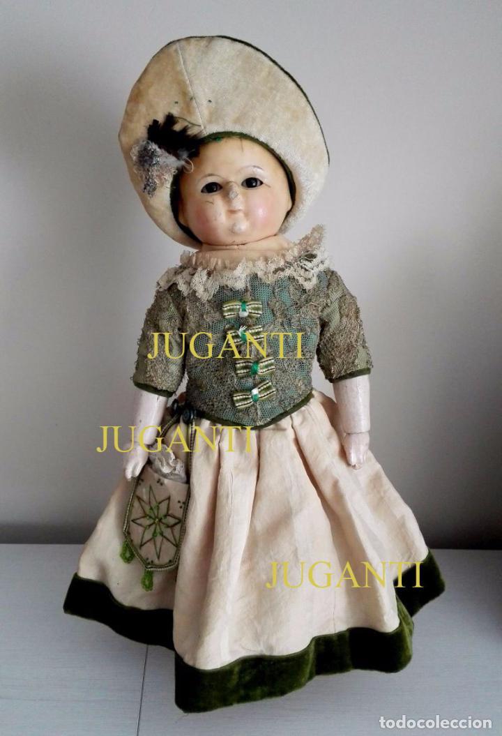 MUÑECA TIPO MOTSCHMANN, BASADA EN LAS ICHIMATSU, DE CERA DE 1854, TODO ORIGINAL. (Juguetes - Muñeca Extranjera Antigua - Otras Muñecas)