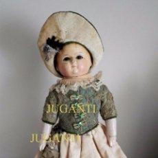 Muñecas Extranjeras: MUÑECA TIPO MOTSCHMANN, BASADA EN LAS ICHIMATSU, DE CERA DE 1854, TODO ORIGINAL.. Lote 97800551