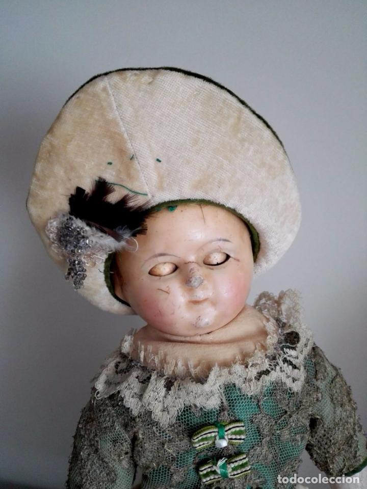 Muñecas Extranjeras: Muñeca tipo MOTSCHMANN, basada en las Ichimatsu, de cera de 1854, todo original. - Foto 3 - 97800551