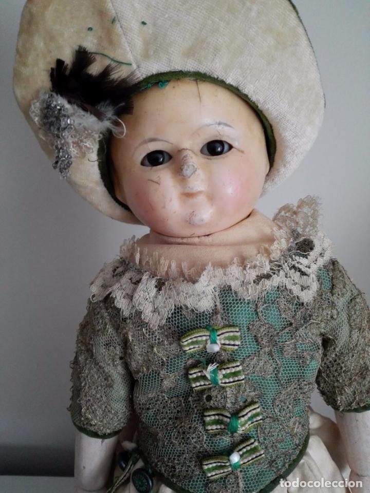 Muñecas Extranjeras: Muñeca tipo MOTSCHMANN, basada en las Ichimatsu, de cera de 1854, todo original. - Foto 5 - 97800551