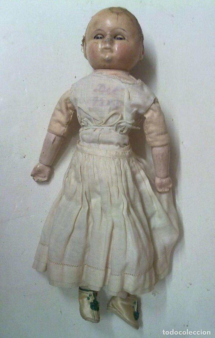 Muñecas Extranjeras: Muñeca tipo MOTSCHMANN, basada en las Ichimatsu, de cera de 1854, todo original. - Foto 6 - 97800551