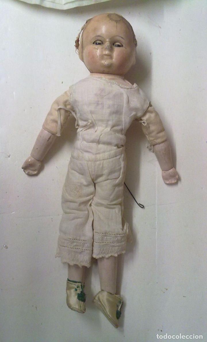 Muñecas Extranjeras: Muñeca tipo MOTSCHMANN, basada en las Ichimatsu, de cera de 1854, todo original. - Foto 7 - 97800551