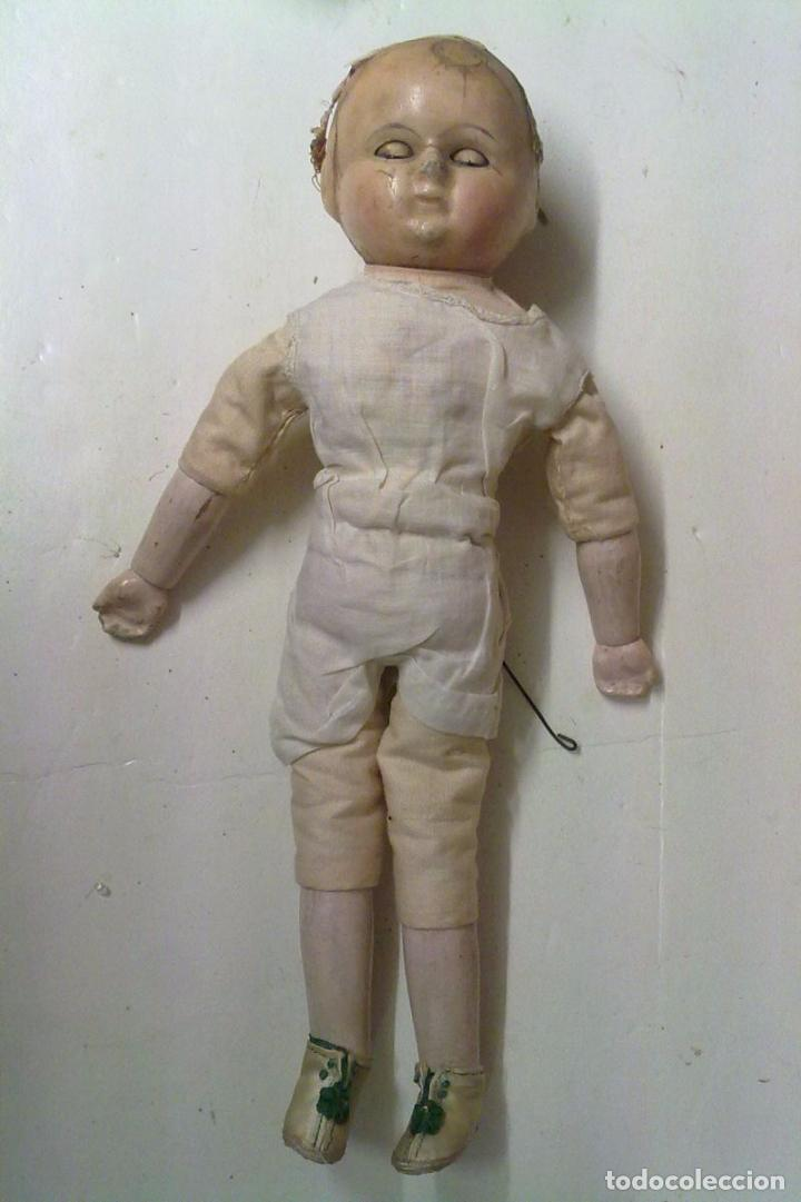 Muñecas Extranjeras: Muñeca tipo MOTSCHMANN, basada en las Ichimatsu, de cera de 1854, todo original. - Foto 8 - 97800551