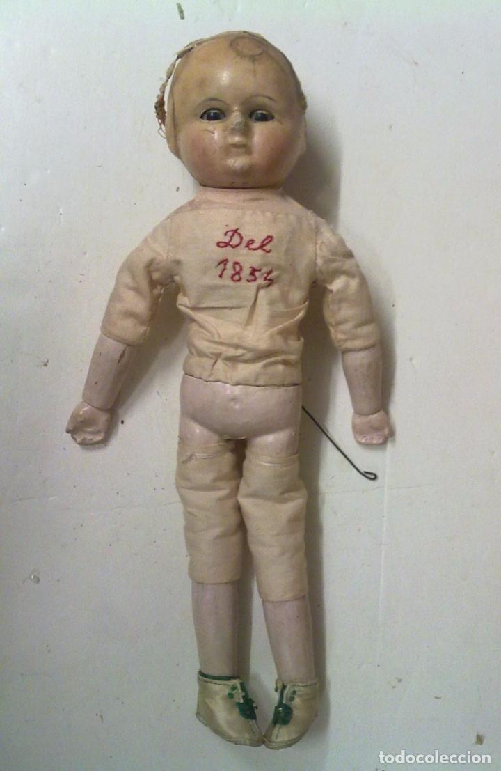 Muñecas Extranjeras: Muñeca tipo MOTSCHMANN, basada en las Ichimatsu, de cera de 1854, todo original. - Foto 10 - 97800551