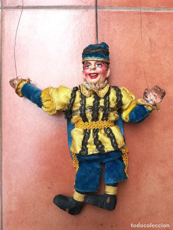 ANTIGUA MARIONETA-TITERE, AÑO 1912-20,FABRICACION CHECA,MARCA MUNZBERGOVY LOUTIK,PRINCIPE,DE TEATRO (Juguetes - Muñeca Internacional Antigua - Otras Muñecas)