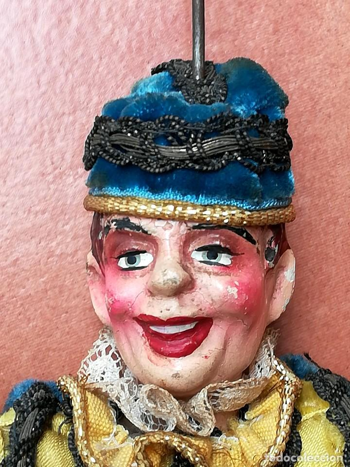 Muñecas Extranjeras: ANTIGUA MARIONETA-TITERE, AÑO 1912-20,FABRICACION CHECA,MARCA MUNZBERGOVY LOUTIK,PRINCIPE,DE TEATRO - Foto 7 - 98552631