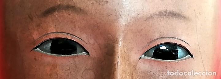 Muñecas Extranjeras: ANTIGUA CABEZA DE MUÑECA JAPONESA SIGLO XIX,PAPEL/CERAMICA,OJOS VIDRIADOS,FOTOGRAFIA DUEÑA,ORIENTAL - Foto 10 - 99977151