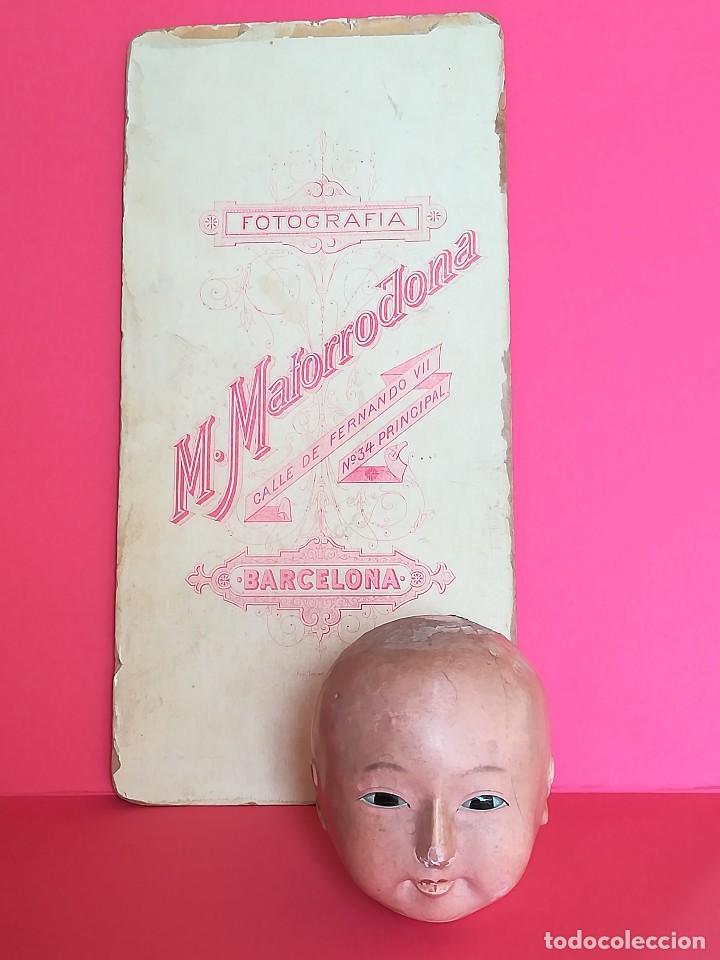 Muñecas Extranjeras: ANTIGUA CABEZA DE MUÑECA JAPONESA SIGLO XIX,PAPEL/CERAMICA,OJOS VIDRIADOS,FOTOGRAFIA DUEÑA,ORIENTAL - Foto 11 - 99977151