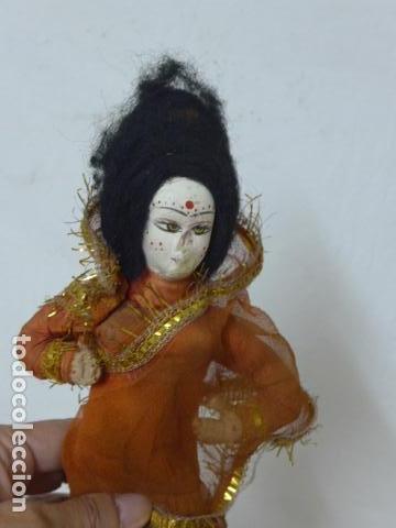 Muñecas Extranjeras: Lote 4 antiguos muñecos o muñecas, muñeca antigua, muñeco antiguo, orientales, hindu. Originales. - Foto 3 - 100512179