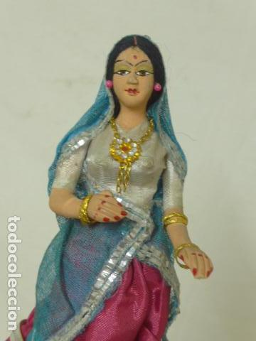 Muñecas Extranjeras: Lote 4 antiguos muñecos o muñecas, muñeca antigua, muñeco antiguo, orientales, hindu. Originales. - Foto 5 - 100512179