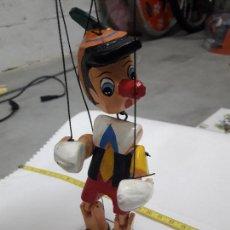Muñecas Extranjeras: ANTIGUA MARIONETA PINOCHO DISNEY EN MADERA 17 CM BUEN ESTADO VER FOTOS. Lote 101578303