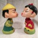 Muñecas Extranjeras: MUÑECOS BESOS BESITOS,SE DAN BESOS CON UN IMAN AÑOS 60 JAPON --ORIGINALES--MARCA DAYSUN FOREIGN. Lote 102027319