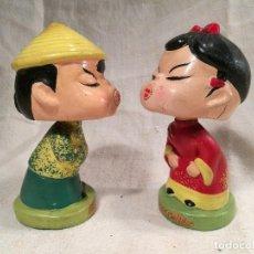 Muñecas Extranjeras: MUÑECOS BESOS BESITOS,SE DAN BESOS CON UN IMAN AÑOS 60 JAPON --ORIGINALES--MARCA DAYSUN FOREIGN. Lote 267121614