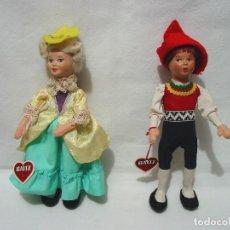 Muñecas Extranjeras: 2 MUÑECOS. MUÑECO Y MUÑECA BAITZ. AUSTRIA. AÑOS 60. 25 CM ALTO. Lote 103612491