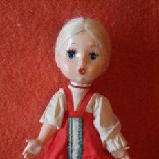 Muñecas Extranjeras: ANTIGUA Y BONITA MUÑECA RUSA RUBIA CON TRENZA. Lote 103765675