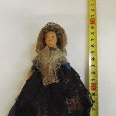 Muñecas Extranjeras: MUÑECA ANTIGUA CON CARTEL QUE PONE LIMOUSIN. Lote 104095487