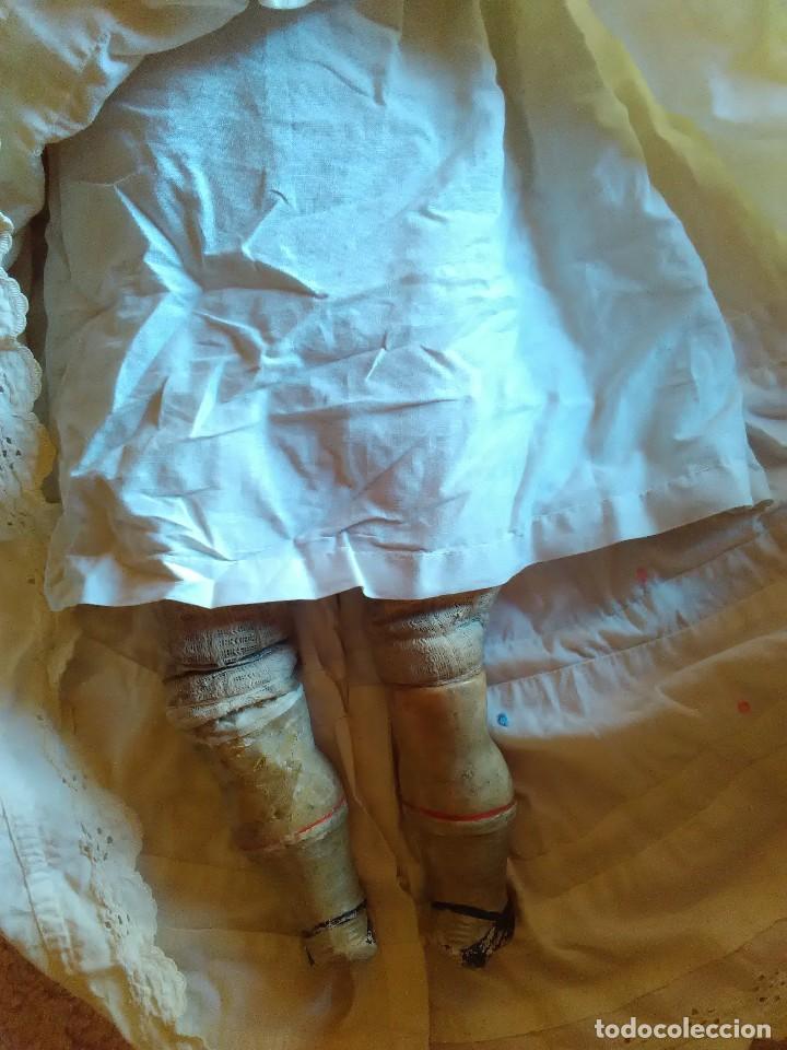 Muñecas Extranjeras: MUY ANTIGUA MUÑECA DE CERA SOBRE COMPOSICION DE 60 cm. - Foto 5 - 107388863