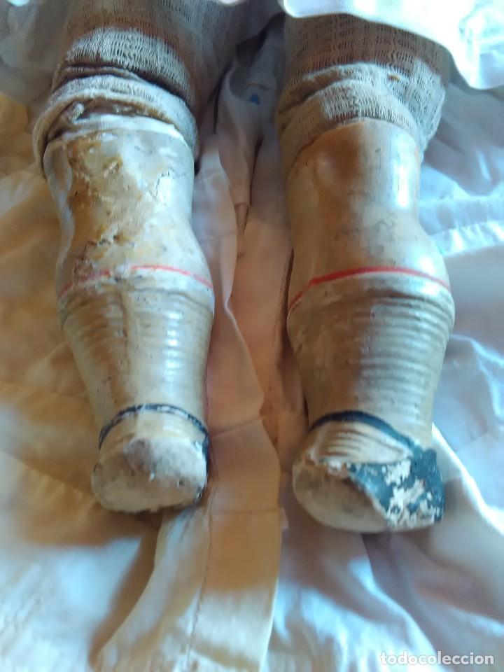 Muñecas Extranjeras: MUY ANTIGUA MUÑECA DE CERA SOBRE COMPOSICION DE 60 cm. - Foto 6 - 107388863