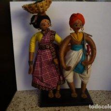 Muñecas Extranjeras: MUÑECOS DE TELA Y ALAMBRE ASÍATICOS COLECCIONISMO. Lote 107707883