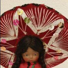 Muñecas Extranjeras: ANTIGUI MEXICANO ANOS 50 ,60 HECHO DE VINYL. Lote 110836331
