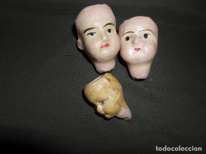 Muñecas Extranjeras: Lote de 3 antiguas cabezas de cerámica Alemana ¡Liquidación!! - Foto 4 - 111044815