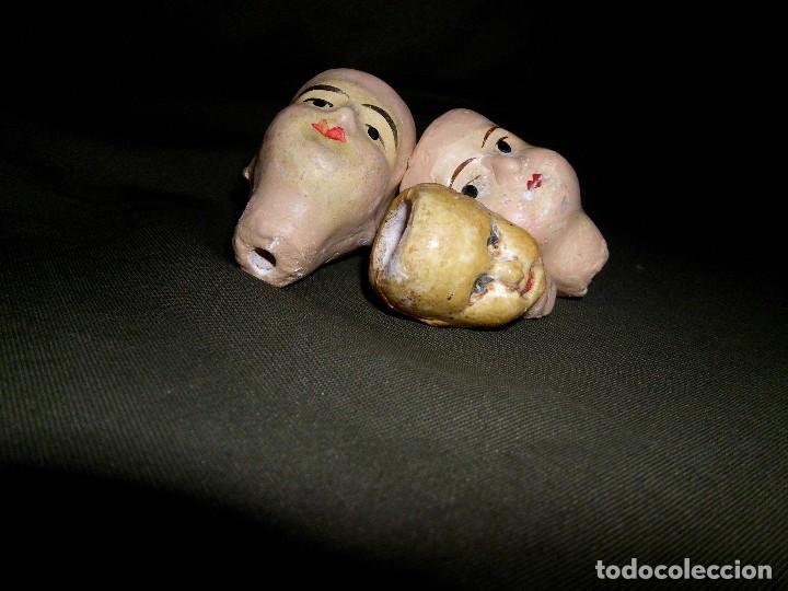 Muñecas Extranjeras: Lote de 3 antiguas cabezas de cerámica Alemana ¡Liquidación!! - Foto 5 - 111044815