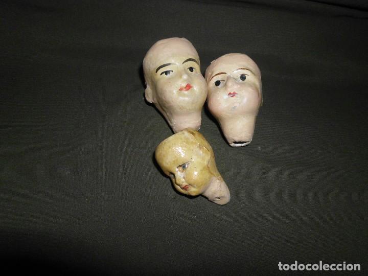 Muñecas Extranjeras: Lote de 3 antiguas cabezas de cerámica Alemana ¡Liquidación!! - Foto 6 - 111044815