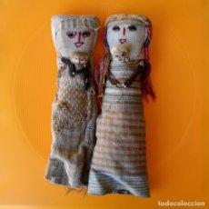 Muñecas Extranjeras: PAREJA DE MUÑECAS CHANCAY DE TRAPO PERUANAS * PERU * 28CM Y 29CM. Lote 112600011