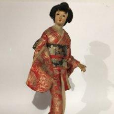 ANTIGUA MUÑECA DE TRAPO - GEISHA - JAPÓN AÑOS 50