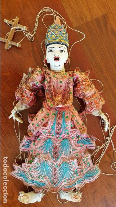 ANTIGUA MARIONETA TAILANDESA ARTICULADA (Juguetes - Muñeca Extranjera Antigua - Otras Muñecas)