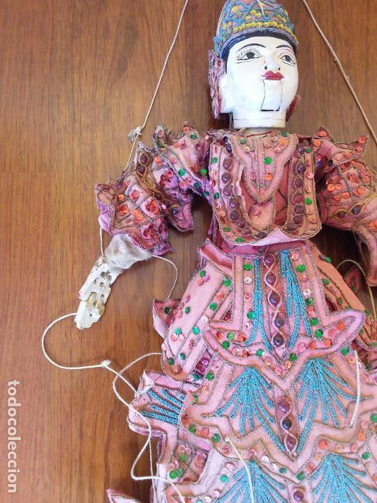 Muñecas Extranjeras: ANTIGUA MARIONETA TAILANDESA ARTICULADA - Foto 3 - 114811043