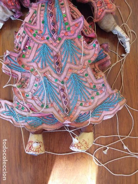 Muñecas Extranjeras: ANTIGUA MARIONETA TAILANDESA ARTICULADA - Foto 4 - 114811043