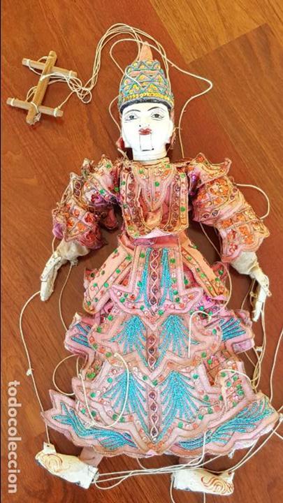 Muñecas Extranjeras: ANTIGUA MARIONETA TAILANDESA ARTICULADA - Foto 6 - 114811043