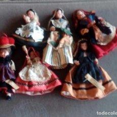 Muñecas Extranjeras: LOTE DE 6 MUÑECAS DE PLASTICO DURO. Lote 114921227