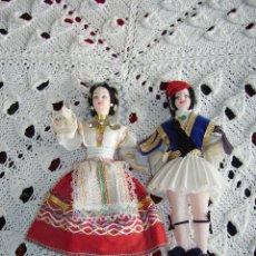 Muñecas Extranjeras: ANTIGUA PAREJA DE MUÑECOS GRIEGOS. Lote 115482771