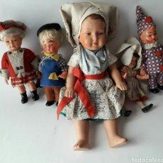 Muñecas Extranjeras: COLECCIÓN DE MUÑECAS ALEMANAS AÑOS 50 EN BAKELITA. ESTÁN EN MUY BUENAS CONDICIONES. Lote 116785480